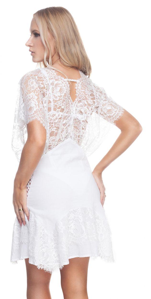 CHANTILLY DRESS WHITE