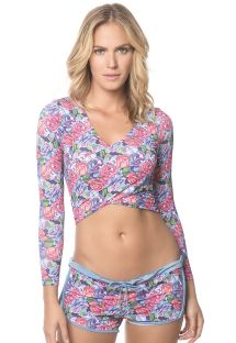 Pink/lilac flowered shorts and top - CHERRY CACHE