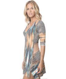 Printed beach dress, transparent back - DAWN HYPE