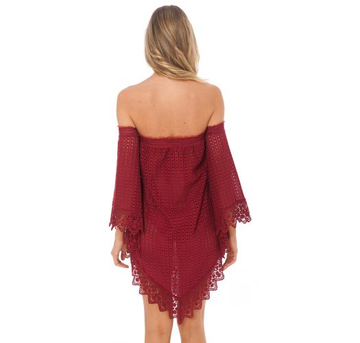 LACE TUNIC ROSSO