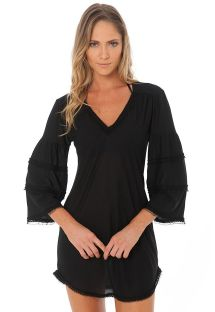 RUFFLE TUNIC BLACK