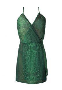 Grünes Strandkleid mit Krokomuster - SAIDA CROCO VERDE