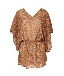 Annimal print beach dress with batwing sleeves - SAIDA JAGUATIRIC