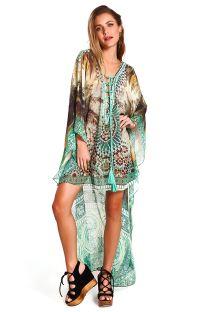 Роскошное ассиметричное пляжное платье в восточном стиле с принтом - KAFTAN LOLO COQUEIRO
