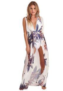 Longue robe de plage à nouer imprimé palmiers - ROBE SOPHIE
