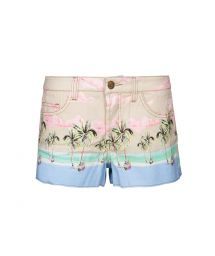 Pastel print denim shorts - FLASH COQUEIRAO