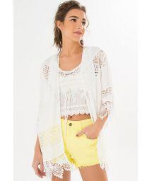 White crochet kimonocoverup - KIMONO RENDA
