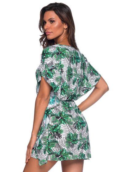 Пляжное платье-кафтан врастительный принтзеленого цвета - CAFTAN ROLETE VIUVINHA