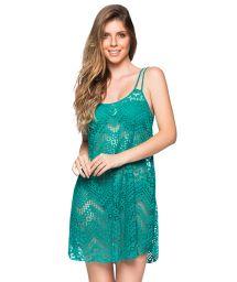 Grön strandklänning med spetsmönster och tunna band - REGATA ARQUIPELAGO