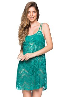 Green beach dress with openwork and thin straps - REGATA ARQUIPELAGO
