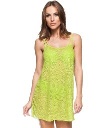 Light lime green beach dress with openwork - VESTIDO REGATA MOJITO