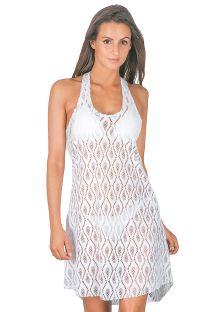 Witte mouwloze strandjurk met bandjes- LIZA