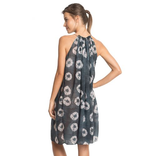 Luxurious printed beach dress with metal beads - BEADS COVER UP