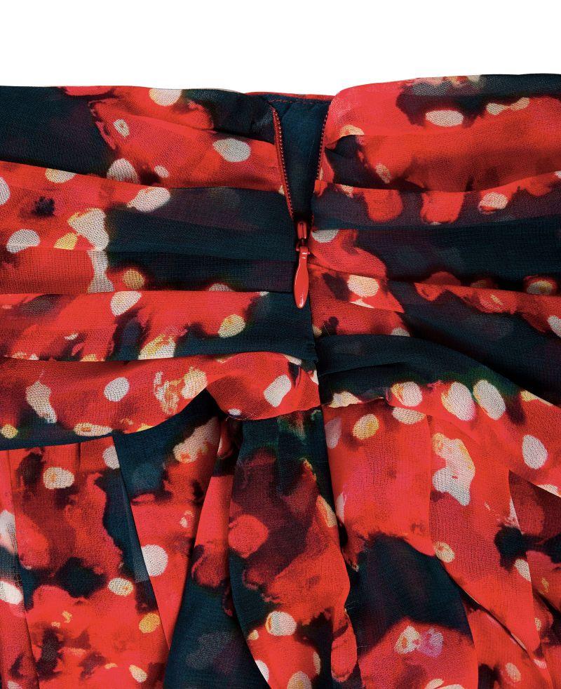 Floaty skater kjol i rött och mörkblått - BEL SKIRT MALDIVES