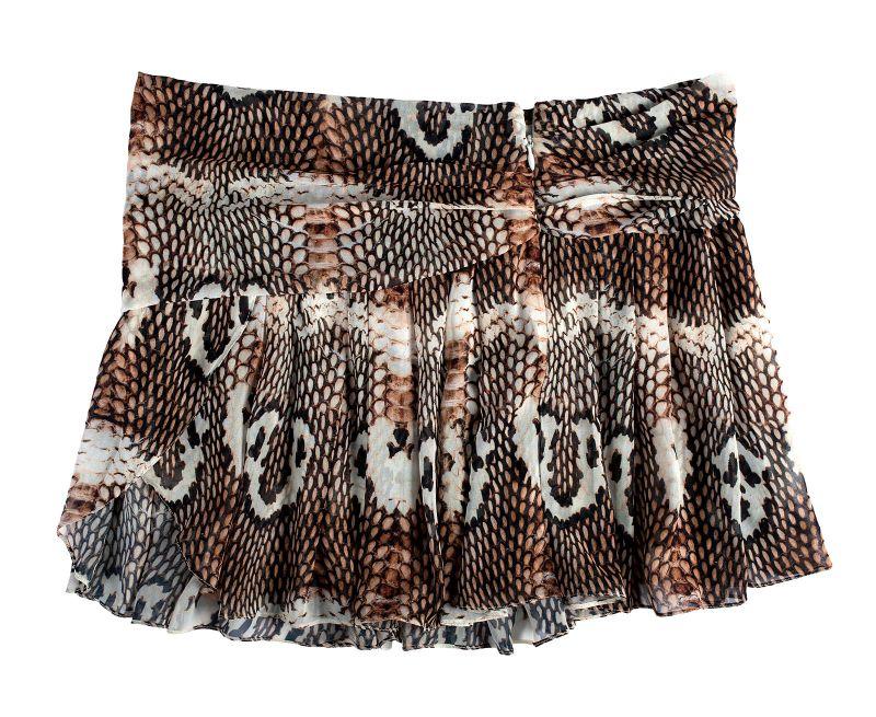 Böljande skater kjol, djurtryck i olika nyanser av brunt - BEL SKIRT SAVAGE