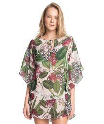 Luxe floral print beach kaftan - NEW CAFTAN JU