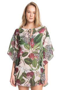 Пляжное платье-кафтан класса люкс в цветочный принт - NEW CAFTAN JU