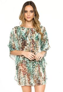 Luxury beach caftan with snake print - NEW JU SKIN