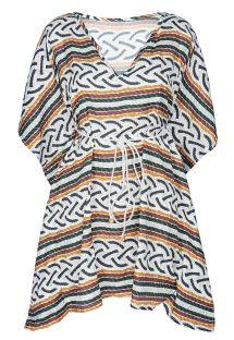 Strand kimono med flagermus ermer, tau mønster - CAFTAN CORDA