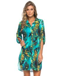Beach long shirt with sharks - CHEMISE SHARKS