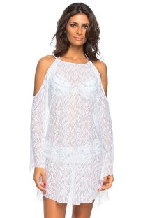 White openwork beach dress long sleeve - COSTAS BRAVA