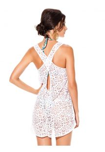 White beach dress with cross-over straps - CRUZADA BRANCO
