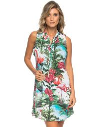 Pink flamingo tank beach dress - GOLA CARIBE