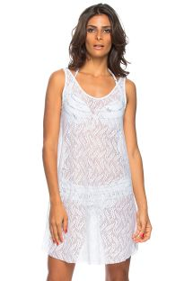 White openwork tank beach dress - PORTO DE PEDRAS