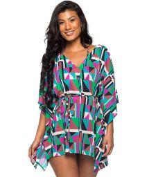 Färgglad strandklänning i kaftan stil - ROLOTE DELAUNAY