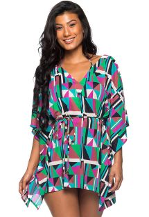 Colorful geometric caftan style beach dress - ROLOTE DELAUNAY