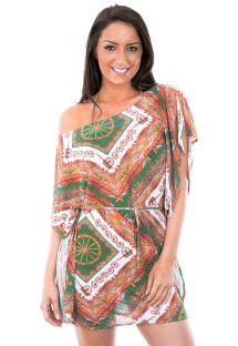 Robe de plage imprimée col Bardot - TUNICA CARRETO