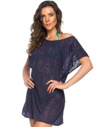 Backless see-through navy blue beach dress - TUNICA DECOTE OCEANO