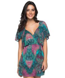 Peacock printed beach dress - TUNICA VOLERY