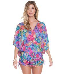 Mandala multicoloured kaftan beach cover-up - HIDROCORAL