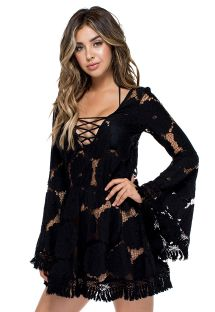 LACED UP BELL DRESS