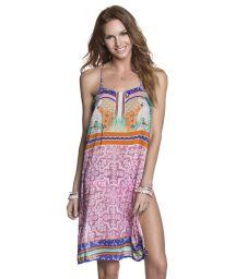 Mix print racerback beach dress - POLLY PARROTRROT