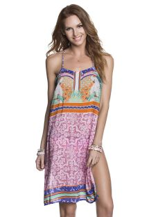 Mix print racerback beach dress - POLLY PARROTRROT