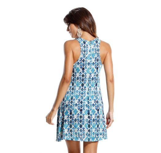 Blue and white beach dress - LADRILHOS AZUL
