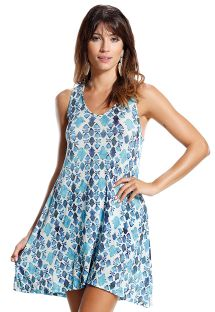 Blue and white beach dress - LADRILHOS AZUL