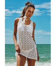 White openwork racerback beach dress - CABO FRIO