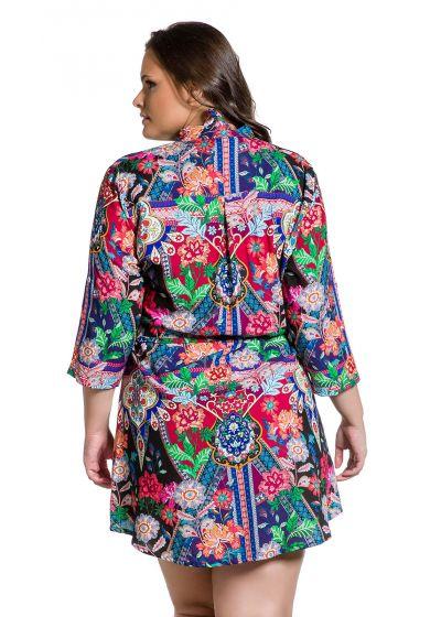 Plus size printed shirt dress - CAMISA ESTAMPADO PLUS
