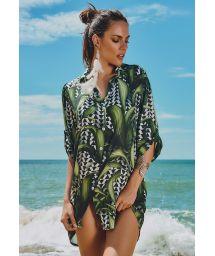 Fauna/geometric print shirtdress - DUNAS PALM SPRINGS