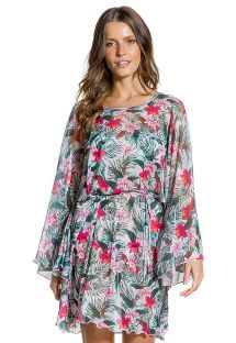 Floral print beach cover-up - KAFTAN FLORAL