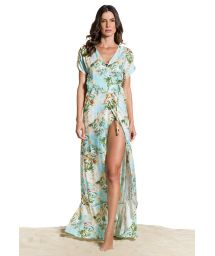 Long floral wallet beach dress - SAIDA LONGA MANHÃ