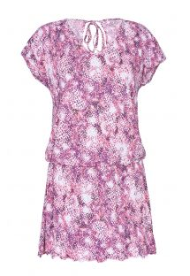 Pink and purple soft, loose-fitting beach dress - PONTALINA