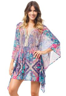 Colourful ethnic kaftan embroidered braid - BEMBE DELILAH