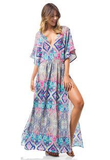 Longue robe de plage ethnique fendue - CANOA DRESS