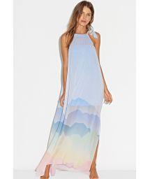 Pastel-print long beach dress - LONG DRESS