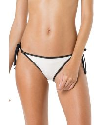 White bikini bottom with black border - BOTTOM CORTININHA VIES ARGOLA BRANCO