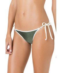 Grön bikini nedredel med vita kanter - BOTTOM CORTININHA VIES ARGOLA VERDE